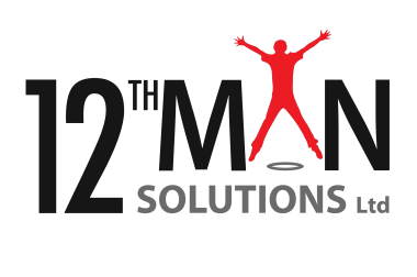 12th Man Solutions Logo red man